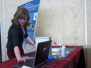 Ashley dramatically sets up one of her award winning scans.
