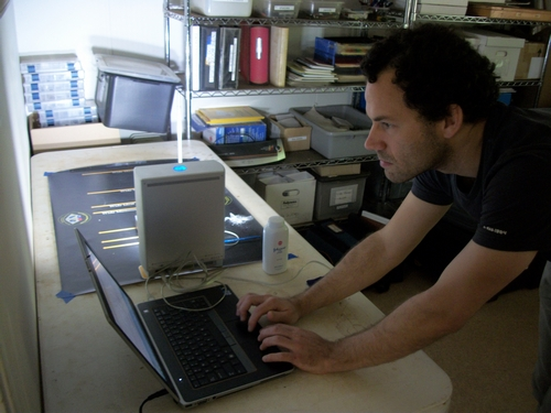 New intern Aaron Ellrich joined me to scan American Indian projectile points at James Madison's Montpelier on May 22.