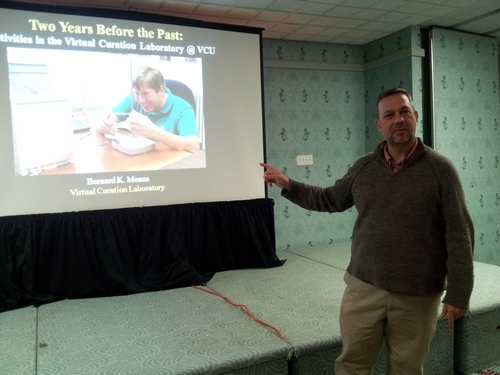 Bernard K. Means presenting.