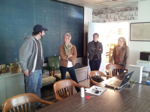 CWF Staff Archaeologist Meredith Pool discussed archaeology at Williamsburg with the Virtual Curation Laboratory staff.