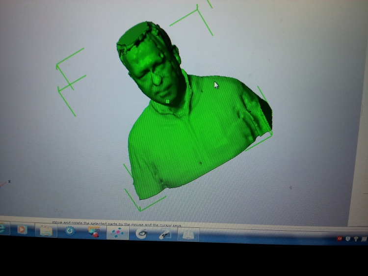 Digital model of the project director.