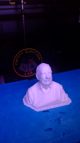 Printed bust of Russell Scott