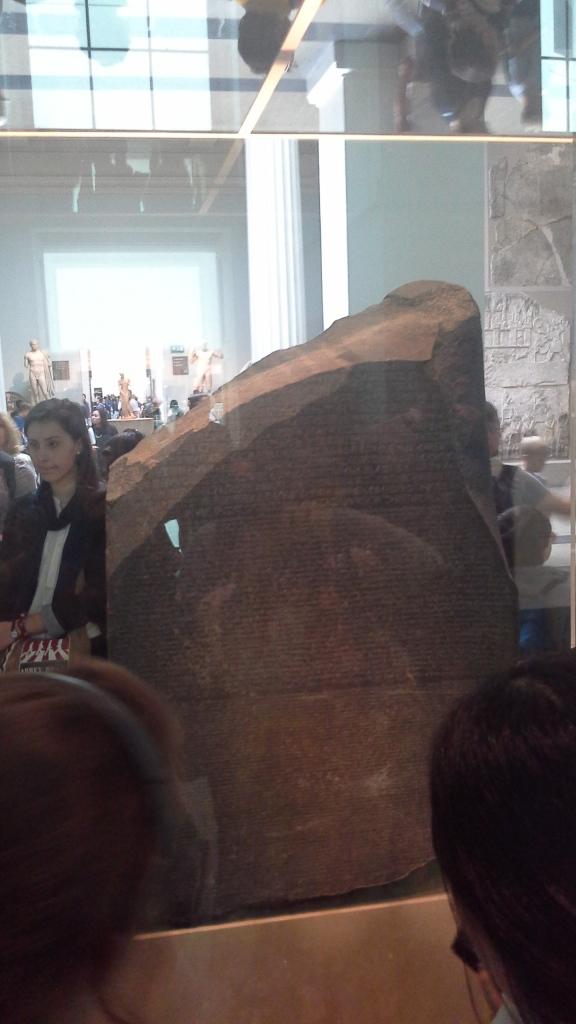 Reverse side of the Rosetta Stone