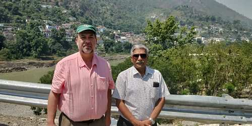 bkm_vinod and I with Alaknanda River behind us