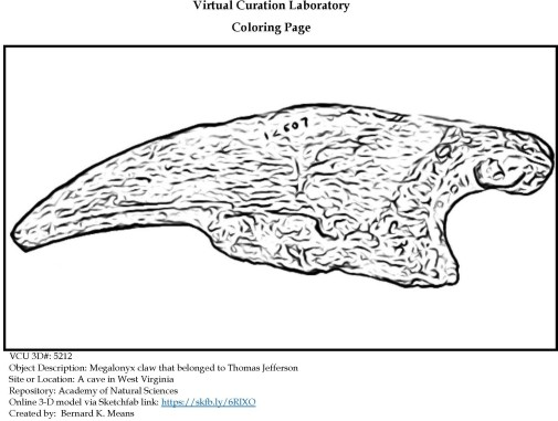 5212_megalonyx_claw coloring page